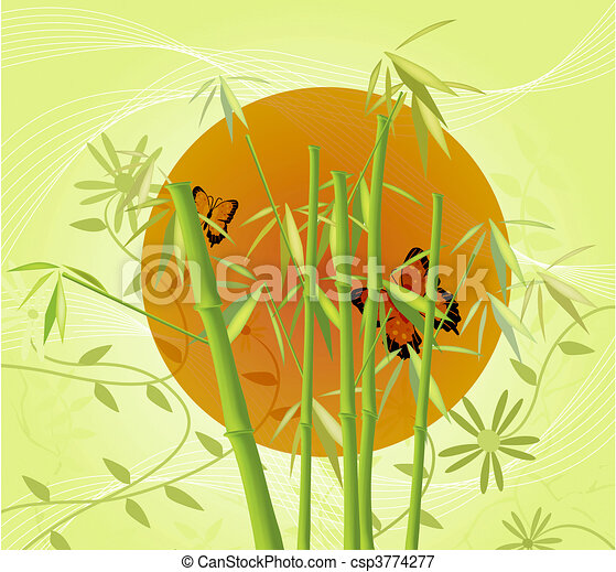 Bamboo and Sun - csp3774277