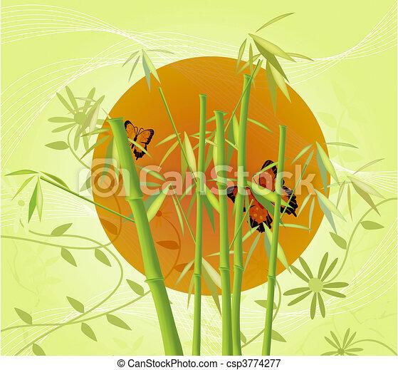 Bamboo and Sun - csp3774277