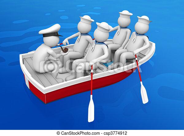Clip art von rettungsboot arbeiter sammlung gruppe for Disegno 3d free