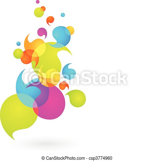 Colorful bubble background - 2 - csp3774960