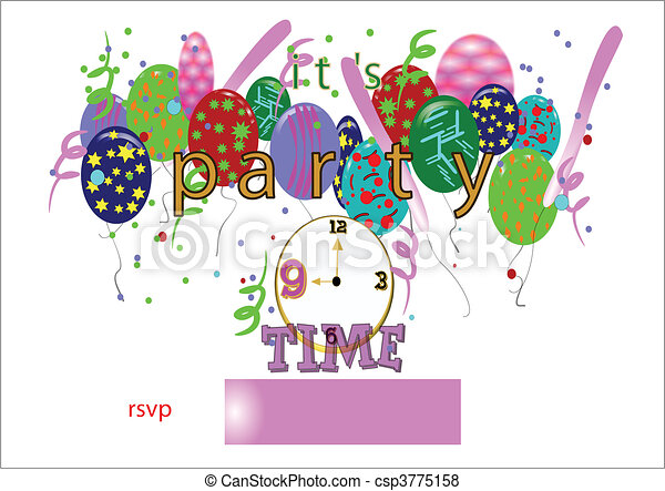 party time invite - csp3775158