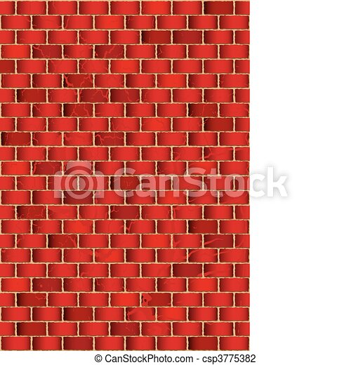 grunge red brick wall - csp3775382