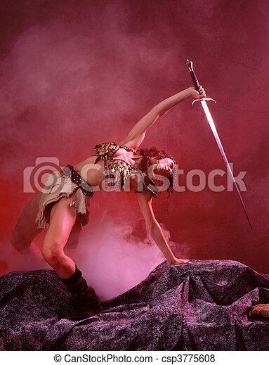 medieval, guerreira - csp3775608