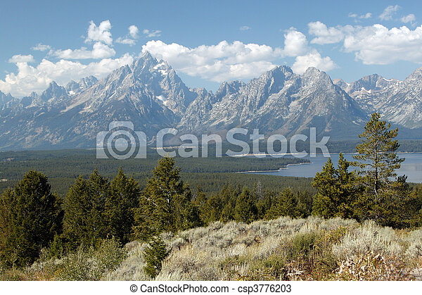 Tranquility Of Grand Teton - csp3776203