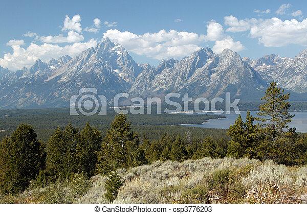 Tranquility Of Grand Teton - csp3776203