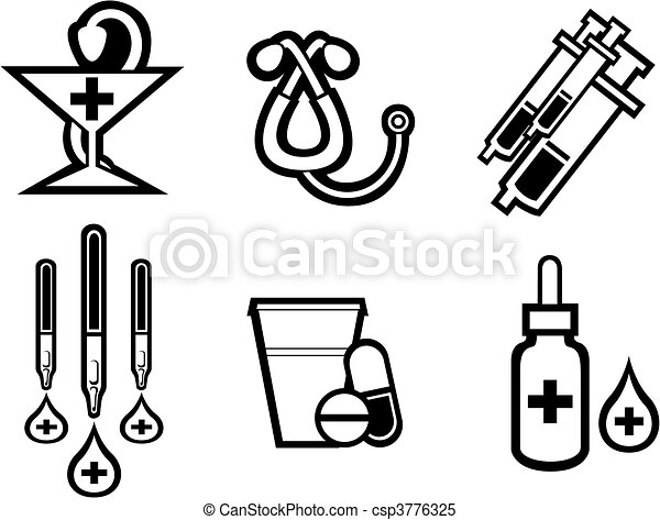 Medicine symbols - csp3776325