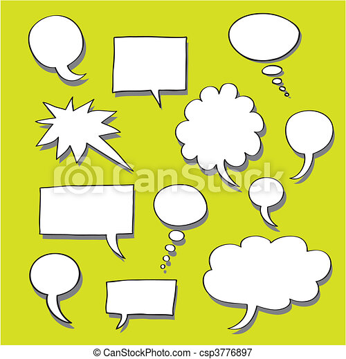 Comics Word and Thought Bubbles - csp3776897
