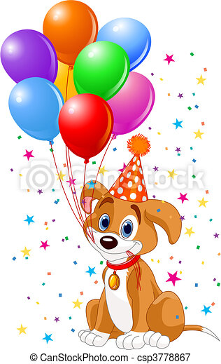 Birthday Puppy - csp3778867