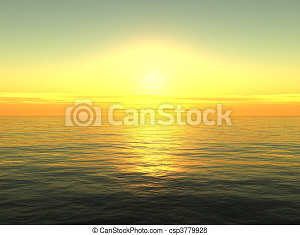 Sunrise on sea - csp3779928
