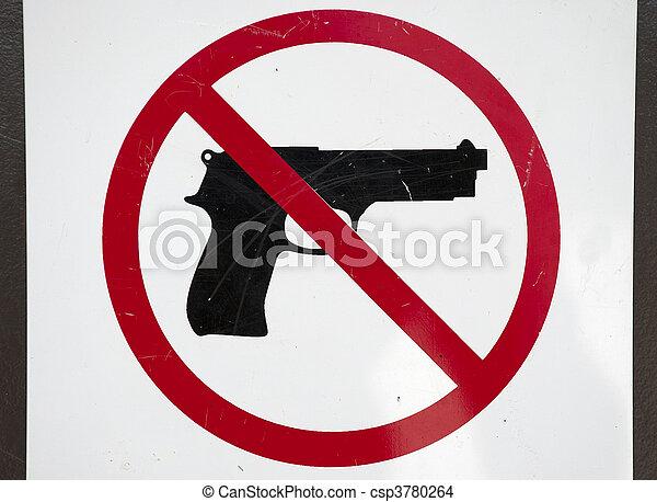 No Firearms - csp3780264