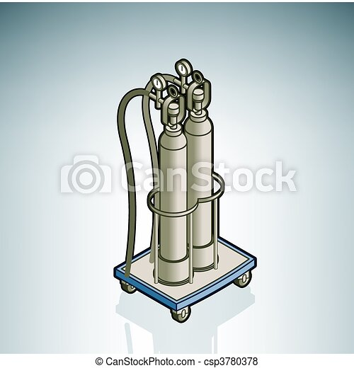 Oxygen Cylinder - csp3780378