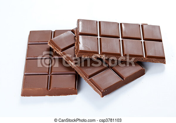 tasty chocolate with milk bar - csp3781103