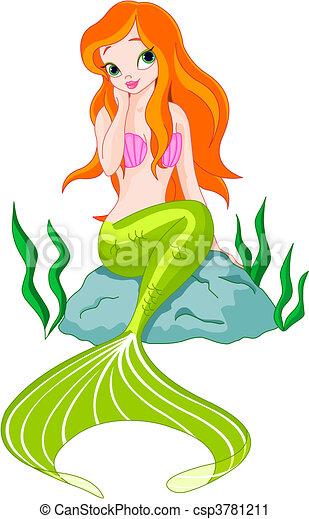 Beautiful Mermaid  - csp3781211