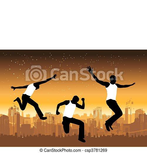 Funny peoples, urban life - csp3781269