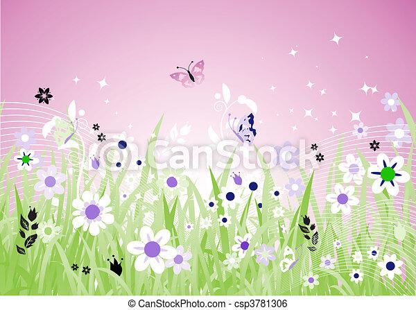 Spring meadow beautiful - csp3781306