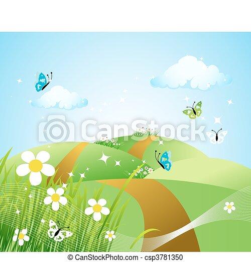 Spring meadow beautiful - csp3781350