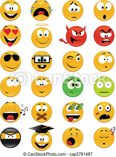 Smiley faces - csp3781487