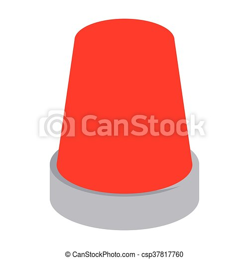 Clip Art Vector of Red flashing emergency light icon, cartoon ...