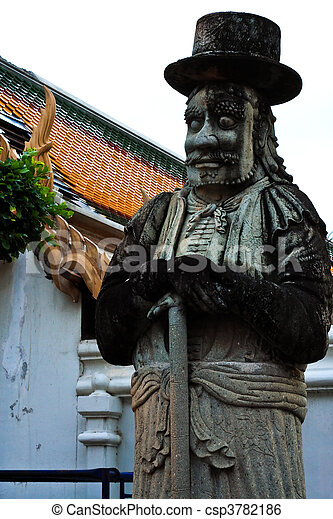 Europe style ogre statue - csp3782186