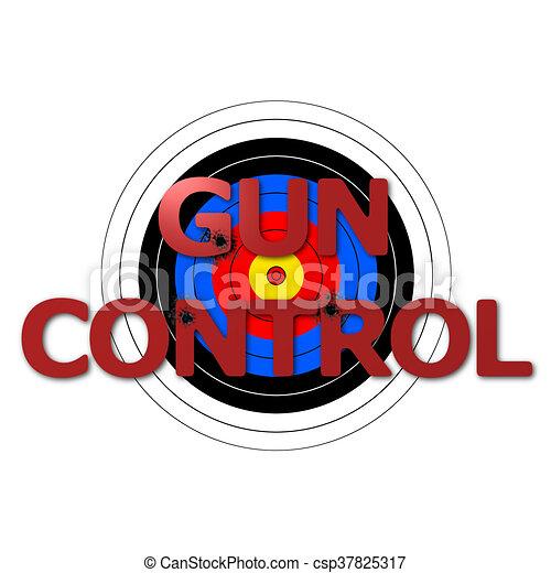Target Gun Control - csp37825317