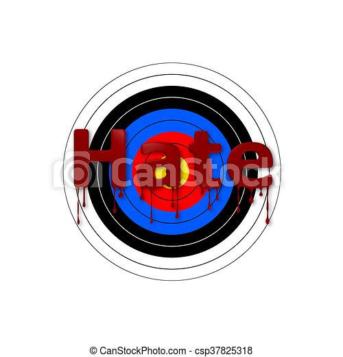 Target Bloody Hate - csp37825318