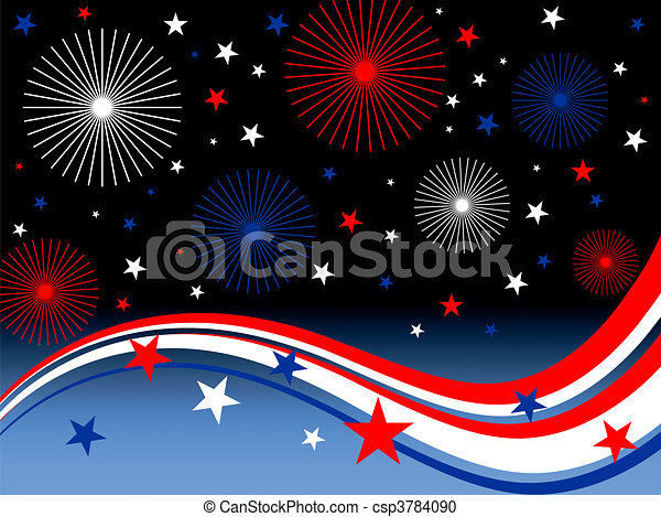 4th july fireworks - csp3784090