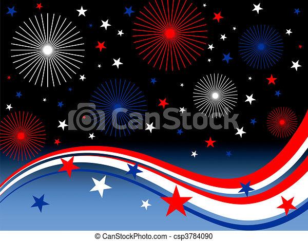 4th july fireworks - csp3784090