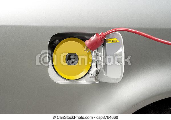 Recharging electric car - csp3784660