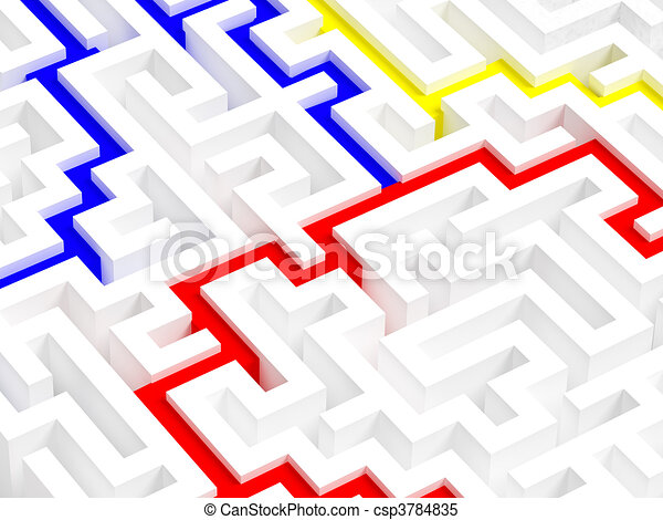 labyrinth 3d - csp3784835