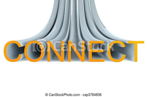 connect 3d text - csp3784836