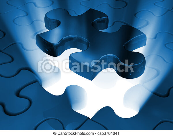 jigsaw piece of puzzle - csp3784841