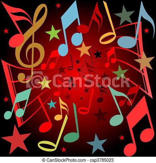 Musical Background - csp3785023