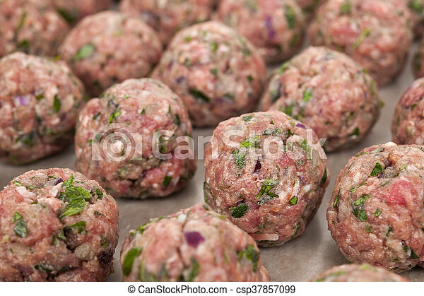 Raw meatballs - csp37857099