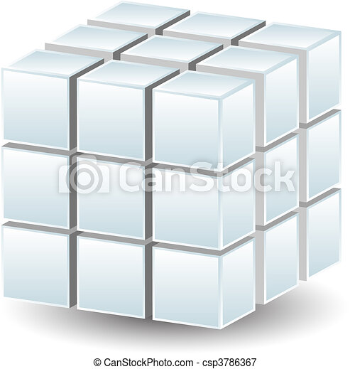 Geometric Cube - csp3786367
