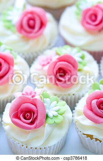 Wedding cupcakes - csp3786418
