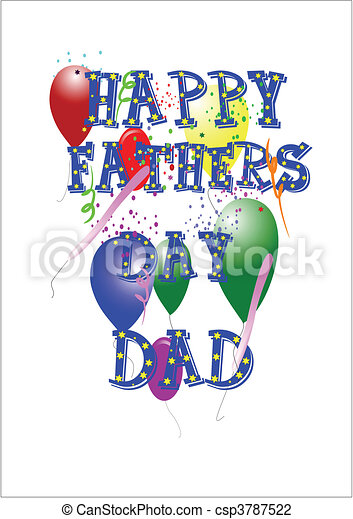 happy fathers day dad - csp3787522