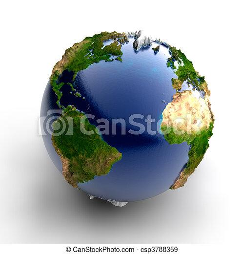Miniature real Earth - csp3788359