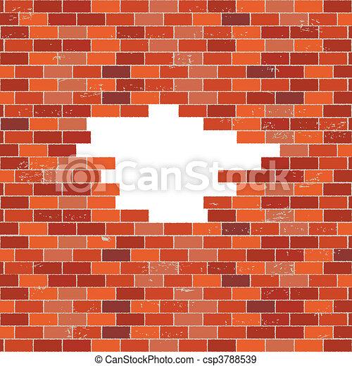 illustration de mur brique trou rouges red mur brique csp3788539 recherchez des cliparts. Black Bedroom Furniture Sets. Home Design Ideas