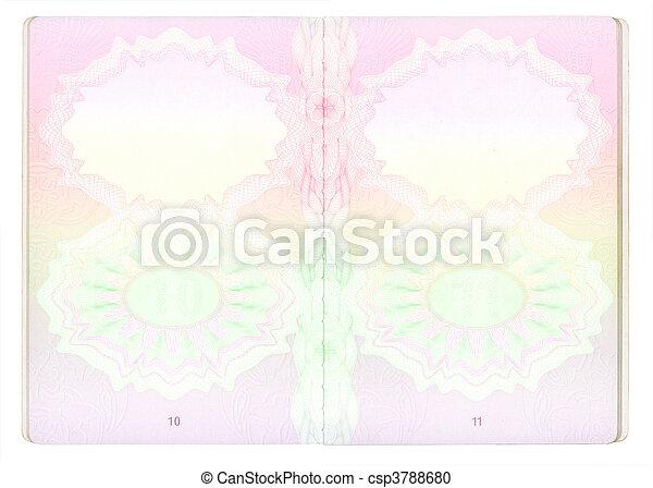 Blank Passport pages - csp3788680
