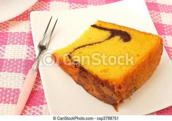 Sumptuous butter sponge cake - csp3788751
