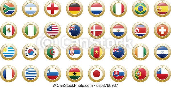 national flags of countries - csp3788987