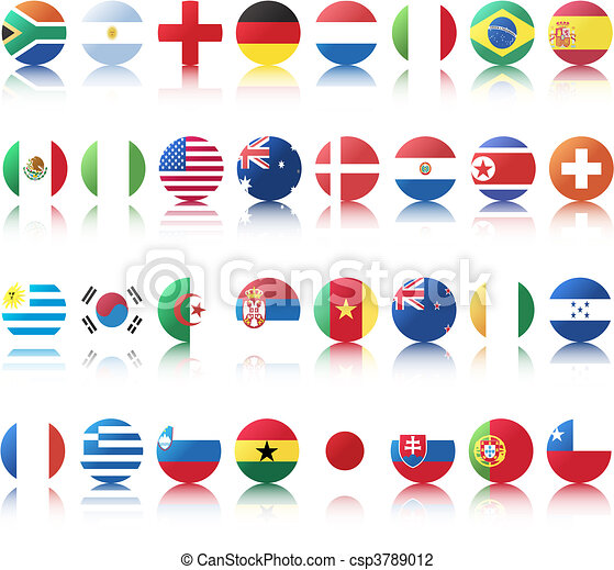 national flags of countries - csp3789012