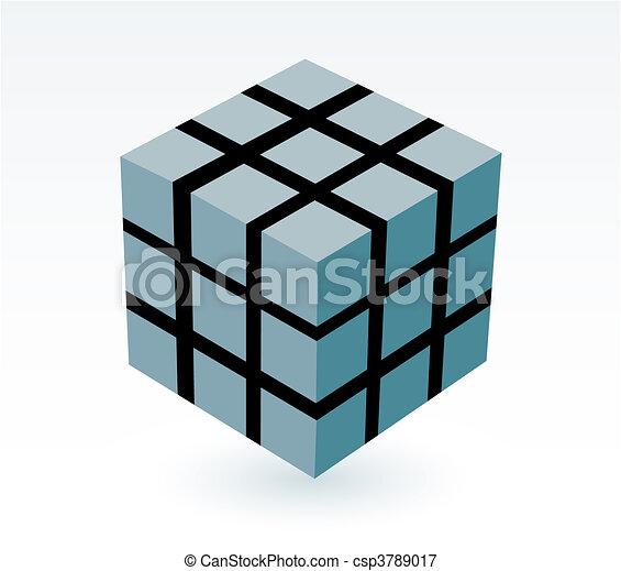 block of cube - csp3789017