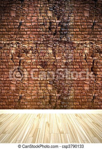 Dessins de brique mur int rieur espace a grungy brique mur csp379 - Brique mur interieur ...