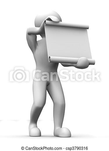 Man with manuscript - csp3790316