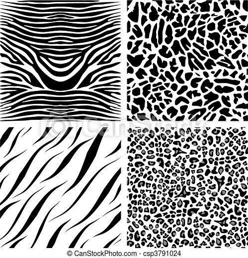 Four seamless patterns - csp3791024