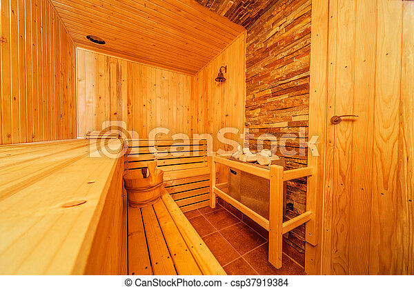 bilder von sauna interior von klein daheim finnish h lzern csp37919384 suche. Black Bedroom Furniture Sets. Home Design Ideas