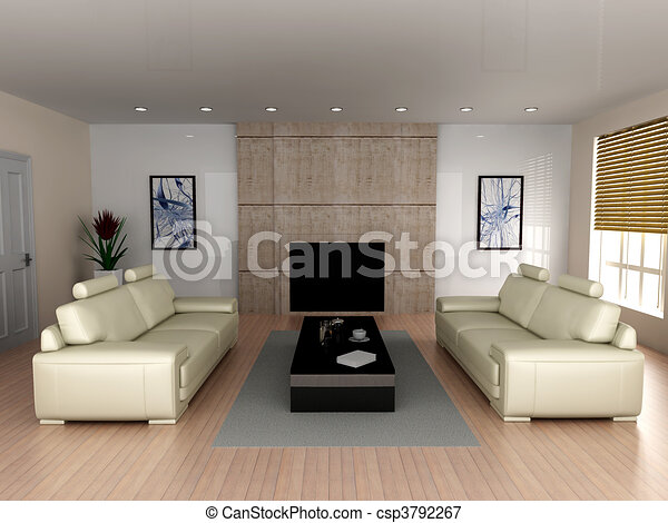 Living room - csp3792267