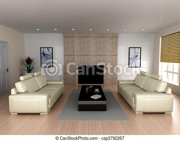 Living room - csp3792267