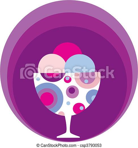 colorful tasty ice-cream and milk shake - 2 - csp3793053